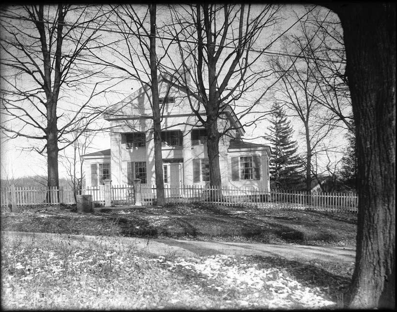 Moses Titus House, 40 Calhoun Street. From the Collection of the Gunn Historical Museum.